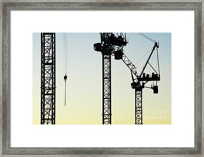 Industrial Cranes Abstract Framed Print by Tim Gainey