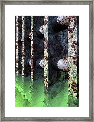 Industrial Disease Framed Print by Richard Rizzo