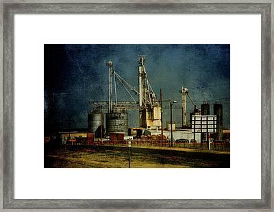 Industrial Farming In Texas Framed Print