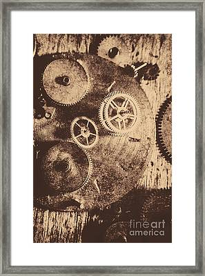 Industrial Gears Framed Print by Jorgo Photography - Wall Art Gallery