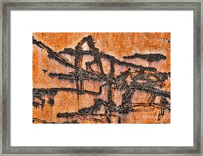 Industrial Hieroglyph Framed Print