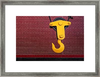 Industrial Hook Framed Print