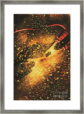 Industrial Jump Start Framed Print by Jorgo Photography - Wall Art Gallery