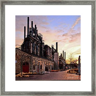 Industrial Landmark Framed Print