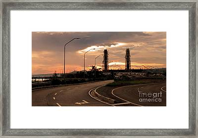 Industrial Landscape Framed Print by Tony Magdaraog