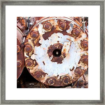 Industrial Latch Framed Print by Art Block Collections
