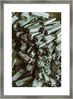 Industrial Letterpress Typeset  Framed Print by Jorgo Photography - Wall Art Gallery