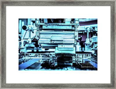 Industrial Metal Printing Machinery. Framed Print