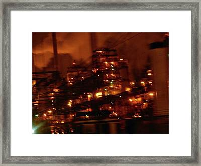 Industrial Nights✴ Steam Punk Framed Print