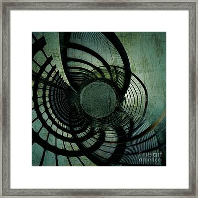 Industrial Overpass Grey Framed Print