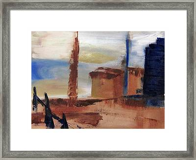 Framed Print featuring the painting Industrial by Patricia Cleasby