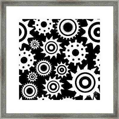 Industrial Pattern Framed Print by Alina Krysko