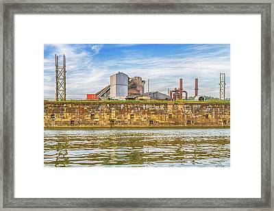 Industrial Pittsburgh Framed Print by Eclectic Art Photos