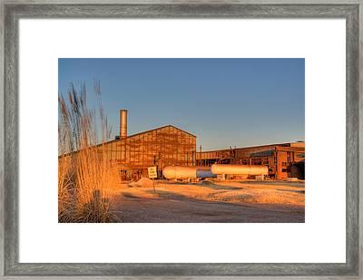 Industrial Site 1 Framed Print by Douglas Barnett