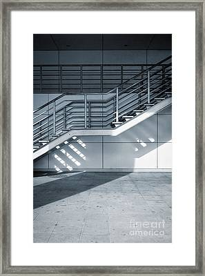 Industrial Stairway Framed Print by Carlos Caetano