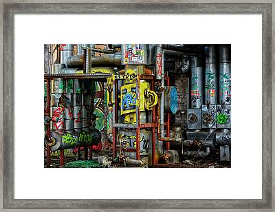 Industrial Steampunk Framed Print