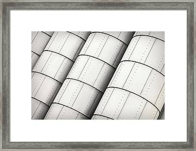 Industrial Storage Tanks Framed Print