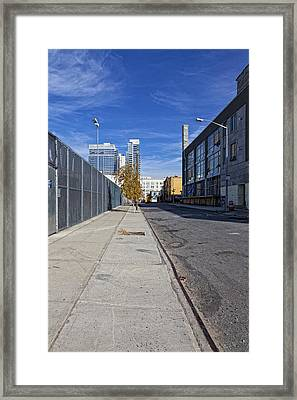 Industrial Street Framed Print by Robert Ullmann