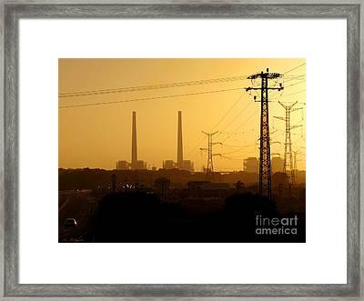 Industrial Sunset Framed Print by Arik Baltinester