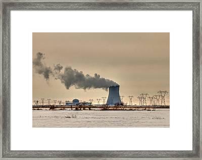 Industrialscape Framed Print by Evelina Kremsdorf