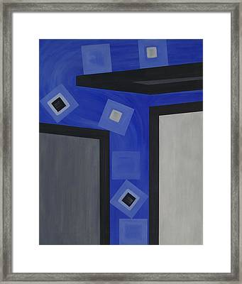 Industry 1 Blue Collar Framed Print by Sandy Bostelman