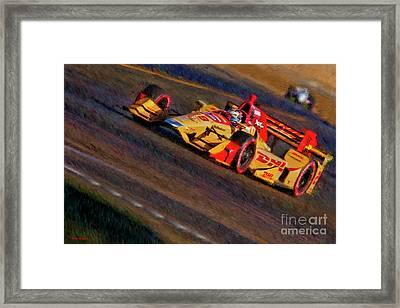 Indy Car Ryan Hunter-reay 2017 Framed Print