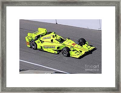 Indy Car Simon Pagenaud Framed Print