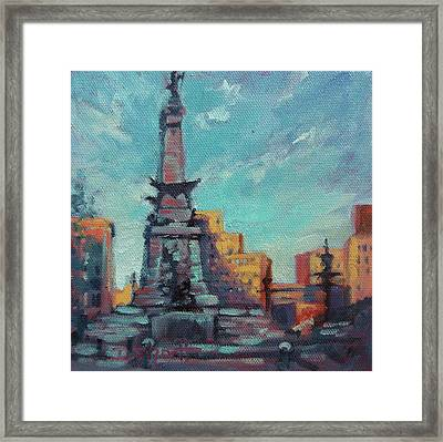 Indy Circle- Day Framed Print by Donna Shortt