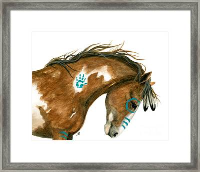 Indy Pinto Horse Framed Print