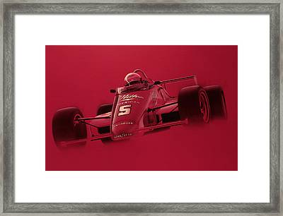 Indy Racing Framed Print by Jeff Mueller