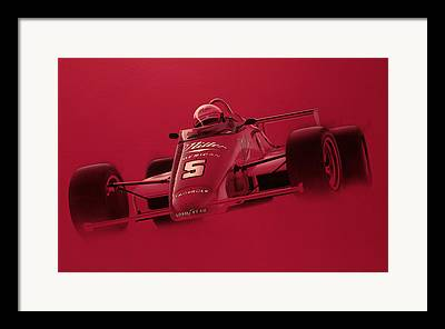 Indy Car Paintings Framed Prints