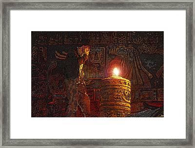 Indys Golden Idol Framed Print