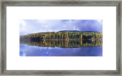 Framed Print featuring the photograph Inez Lake Montana by Janie Johnson