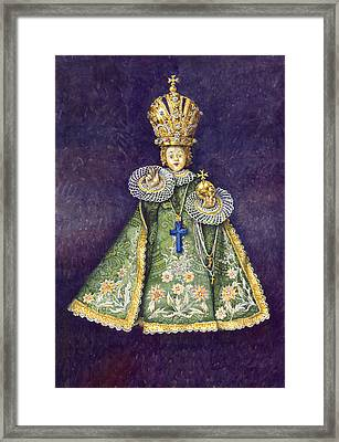 Infant Jesus Of Prague Framed Print