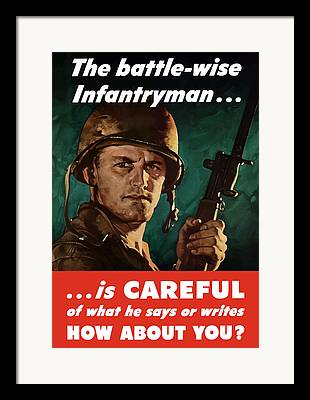 Infantryman Framed Prints