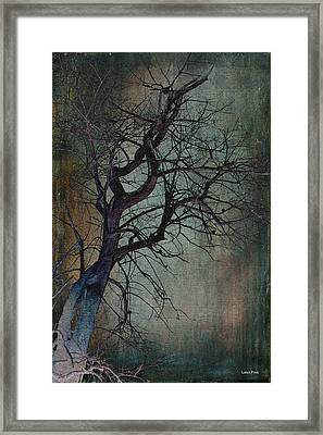 Infared Tree Art Twisted Branches Framed Print