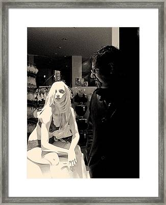 Infatuation Framed Print by Gillis Cone