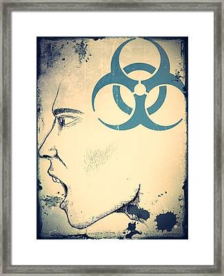 Infectious Substance Framed Print