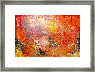 Inferno Framed Print by Jacqueline Athmann