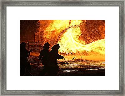Inferno Framed Print by John Ungureanu
