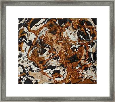 Framed Print featuring the painting Inferno Of The Mind by Sherri  Of Palm Springs