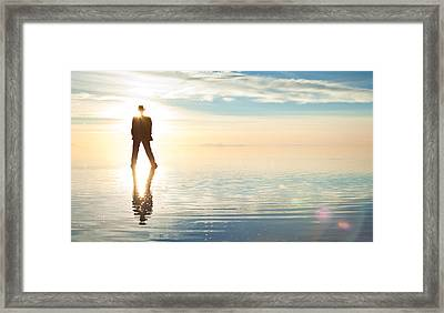 Framed Print featuring the photograph Infini by Dario Infini