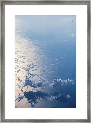 Infinite Blue Framed Print