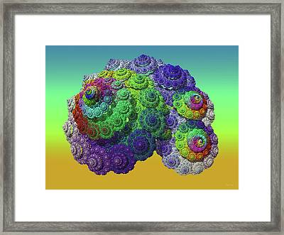 Infinite Inspiration Spiral Framed Print