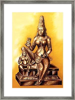 Framed Print featuring the painting Infinite Love by Ragunath Venkatraman