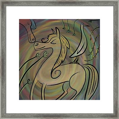 Framed Print featuring the painting Infinite Pony Palomino by Marti McGinnis