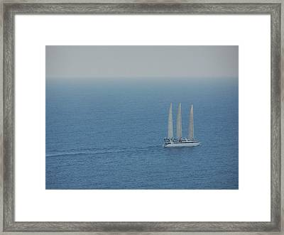 Infinite Sea Framed Print by Adam Schwartz