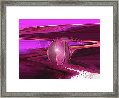 Infinity And Beyond - Abstract Iris Photography Framed Print