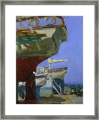 Infinity Awaiting Winter - Plein Air Catalina Island Framed Print