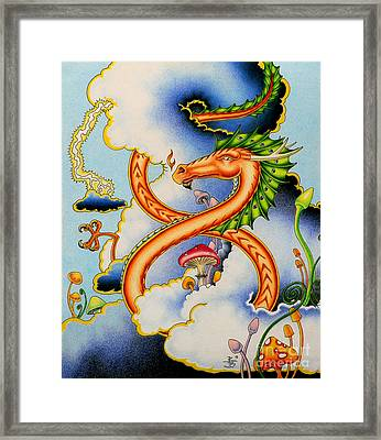 Infinity Dragon Framed Print